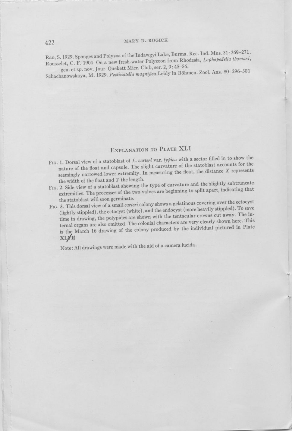 The occurrence of Lophopodella carteri page 8