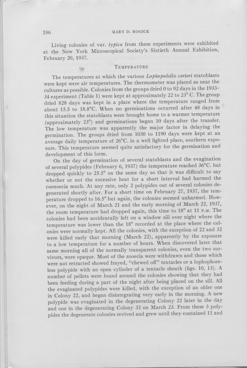 On the viability of dried statoblasts of ...  page 11