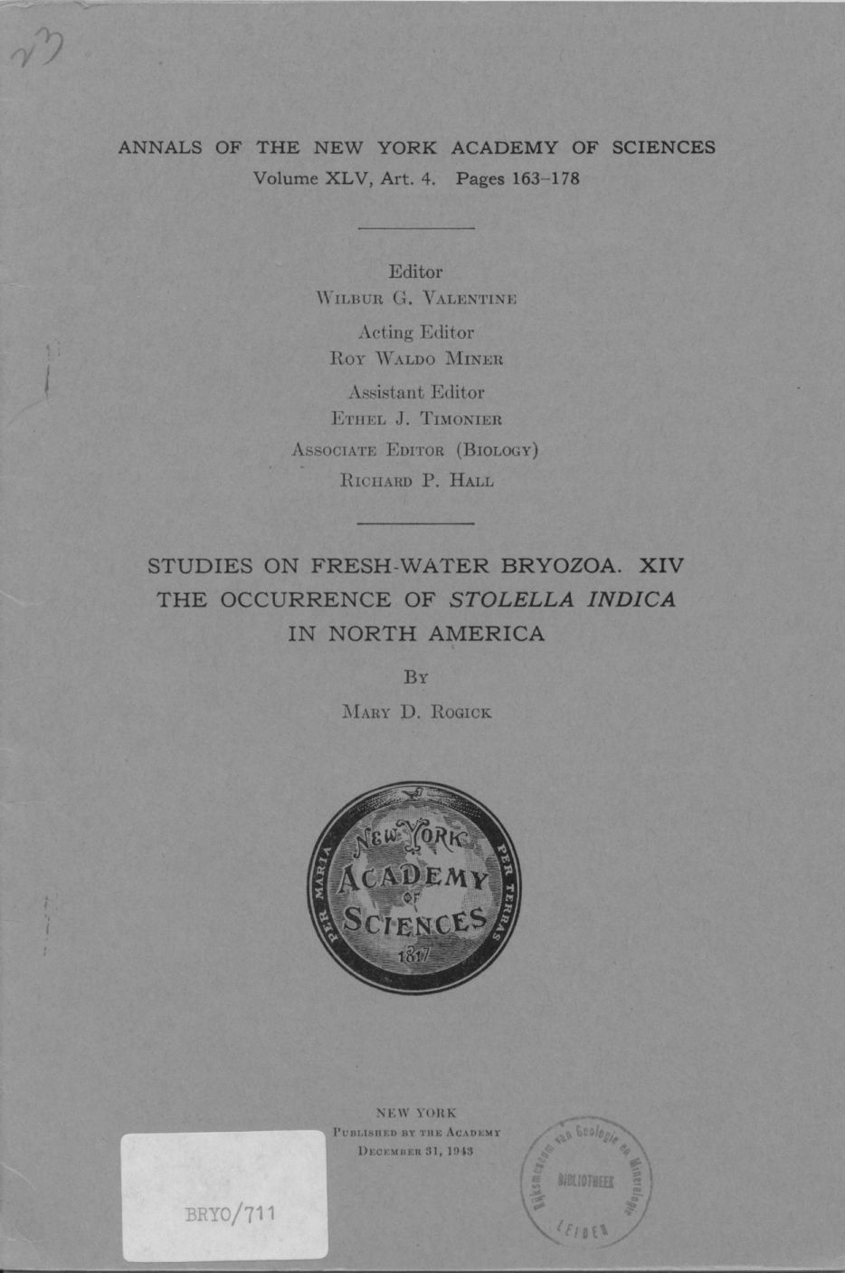 The occurrence of Stoltella indica in North America 1